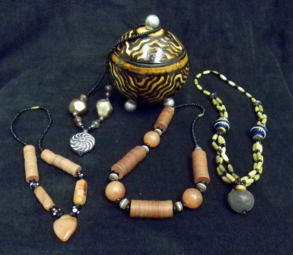 African Necklaces and Bowl