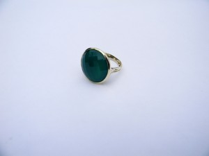 Gorgeous Green Agate Ring, Size 7