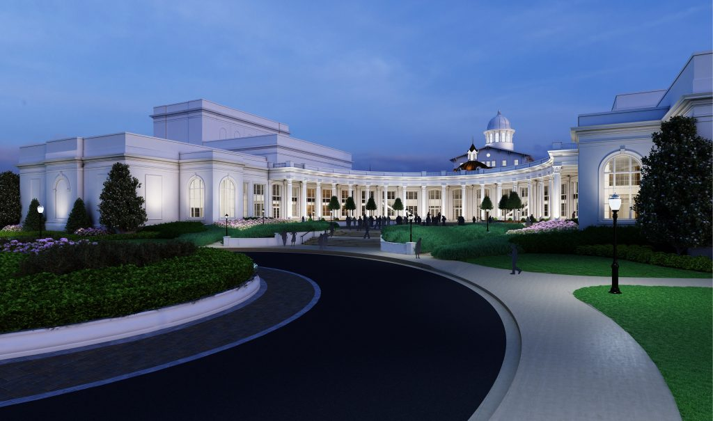 Rendering of Performing Arts Center building